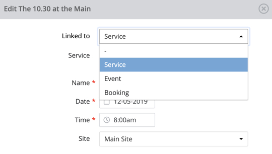 Planning module - plan services in ChurchSuite